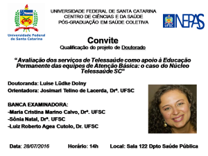 Convite Qualificação Luise Lüdke Dolny